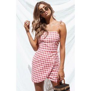 New! SABO skirt checkered dress